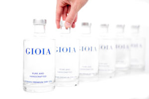 Gioia Gin bottles